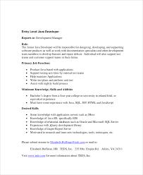 Sample Java Resumes by Sample Java Developer Resume 7 Examples In Word Pdf