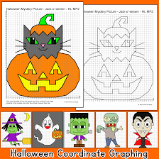 halloween math halloween math coordinate graphing ordered pairs zombie vampire