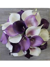 purple calla lilies purple wedding bouquet purple calla bouquet purple bouquet