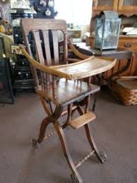 Antique Wooden High Chair Furniture Wickliffe Flower Barn Wickliffe Oh