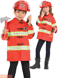 Fireman Costume Childs Fireman Costume Boys Girls Fire Chief Fancy Dress Kids Book