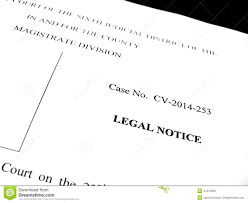 legal papers lawsuit notice stock photo image 47212326