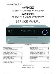 47167240 harman kardon service manual for avr 430 and avr 630