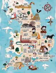 A Map Of England by A Literary Map Of England Lisa Berne