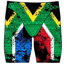 Afican Flag Male Jammer Swimsuit South African Flag U2013 Dg Apparel