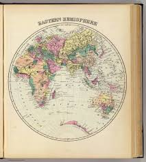 Blank Map Of Western Hemisphere by Eastern Hemisphere David Rumsey Historical Map Collection