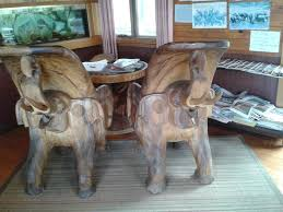 elephant chairs beautifully carved picture of mount elephant