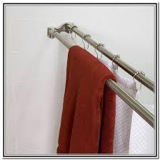 Round Shower Curtain Rod For Corner Shower Round Shower Curtain Rod For Clawfoot Tub Home Design Ideas