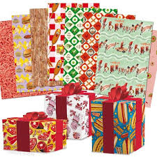 gift wrapping paper meat parade wrapping paper book archie mcphee co