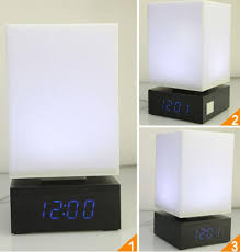 bedroom voice 2018 m sparkling light led table l desk bedroom voice alarm clock