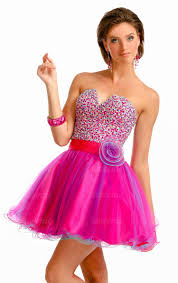 short mini pink organza a line strapless sleeveless homecoming