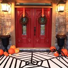 spider web rug halloween decorations to make tip junkie