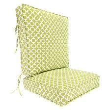outdoor deep seat u0026 back chair cushion green white geometric