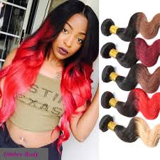 Two Tone Ombre Hair Extensions by 6a Ombre Hair Extensions Burgundy Brazilian Body Wave Two Tone