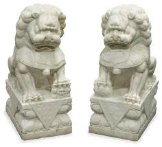 pictures of foo dogs carved marble foo dogs asian outdoor decor by china