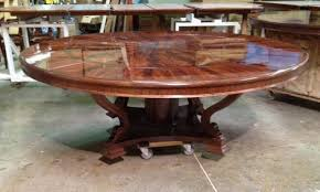 Extra Large  Round Mahogany Dining Table With Perimeter Leaves - Formal dining room tables for 12