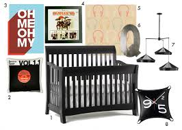 Rock N Roll Crib Bedding Rock And Roll Nursery Black Blue And Orange Featuring The