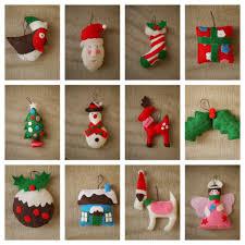 felt decorations gingerbread house felt snowflake