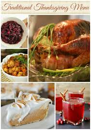 traditional thanksgiving menu ideas turkey cranberry