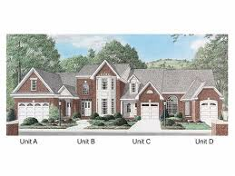 Multi Family Home Floor Plans 165 Best Multi Family Plans Images On Pinterest House Front