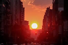 halloween city returns manhattanhenge solar phenomenon lights up new york city time com