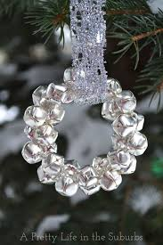 easy silver bells wreath ornament a pretty in the suburbs