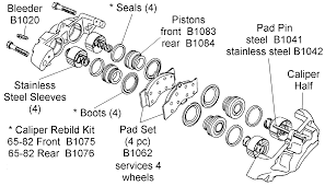 corvette supply caliper rebuild kit diagram view chicago corvette supply