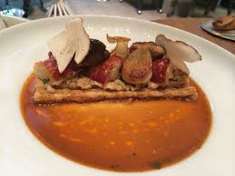 cuisine cepes on the menu at ducasse at le plaza athenée by