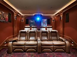Movie Theater Decor For The Home Small Theater At Home With Cozy Seating Idea Techethe Com