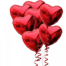 heart balloon bouquet heart foil 7 balloon bouquet inflated buy helium balloons