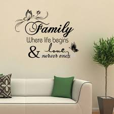family home decor family home decor creative quote wall decals decorative removable