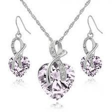 light purple necklace images Gorgeous necklace set light purple jpg
