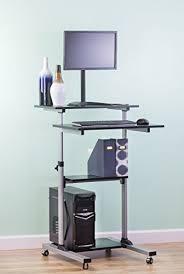 rolling stand up desk vivo mobile height adjustable stand up desk computer work station