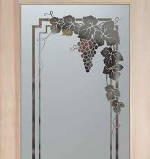 etched glass pantry doors vineyard grapes garland pantry door sandblasted etched glass