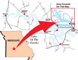 ozarks map lake of the ozarks northeast milemarker 17 to bagnell dam