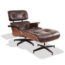 noknoknok eames style lounge chair distressed tan leather