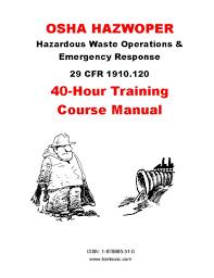 osha hazwoper 40 hour training course manual t d herod