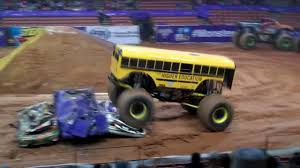 monster truck videos freestyle bus monster truck freestyle and jumping youtube