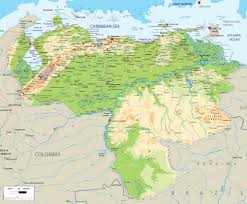 Central America And The Caribbean Physical Map by Physical Of Map Venezuela