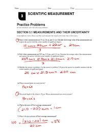 chapter 3 practice problems key significant figures measurement