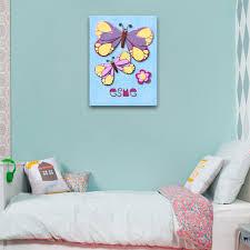 fuzzy felt kids name butterfly personalised wall art canvas fuzzy felt kids name butterfly personalised wall art