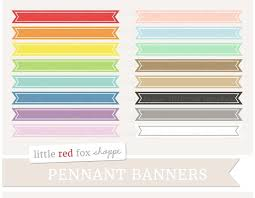 pennant banner clipart illustrations creative market