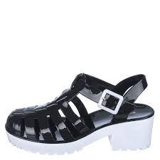 bamboo strawberry 01 women u0027s black low heel sandals shiekh shoes
