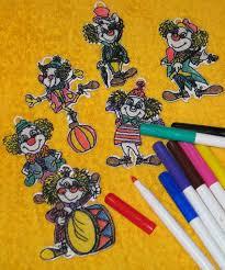 advanced embroidery designs fsl coloring clown ornaments set