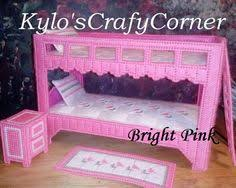Barbie Bunk Beds Barbie Plastic Canvas Nursery Time Barbie Plastic Canvas