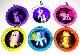 bottle cap necklaces cap necklace my little pony party favor set