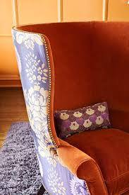 Printed Fabric Armchairs I Love Two Different Fabrics On One Chair Also Love The Super