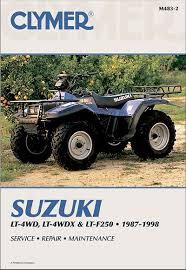 suzuki atv repair manual for quadrunner and king quad 1987 1998