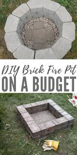 fire pit made of bricks diy brick fire pit on a budget