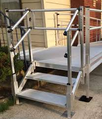 aluminum stairs for sale portable metal stairs express ramps